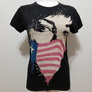 Green Day shirt Medium American flag mask molotov